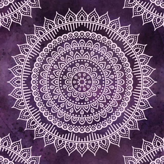 Poster Mandala - 010   roxo