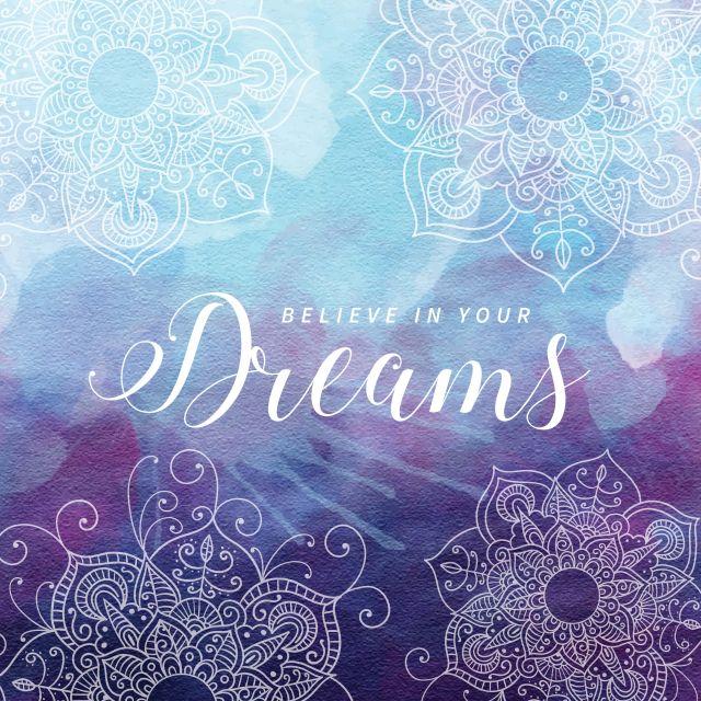 Poster Mandala Dreams   roxo