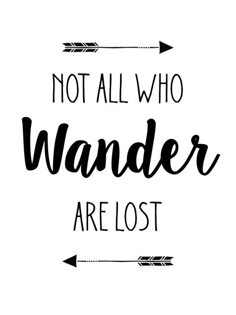 Poster Not All Who Wander Are Lost   o senhor dos anéis the lord of the rings
