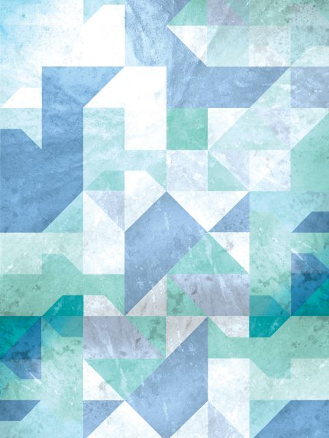 Poster Bluish   azul verde