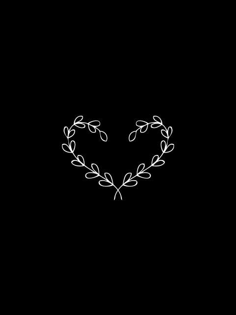 Poster Laurel   preto coração heart