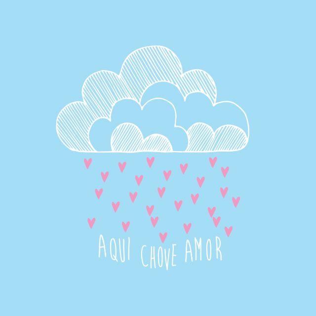 Poster Aqui Chove Amor   azul