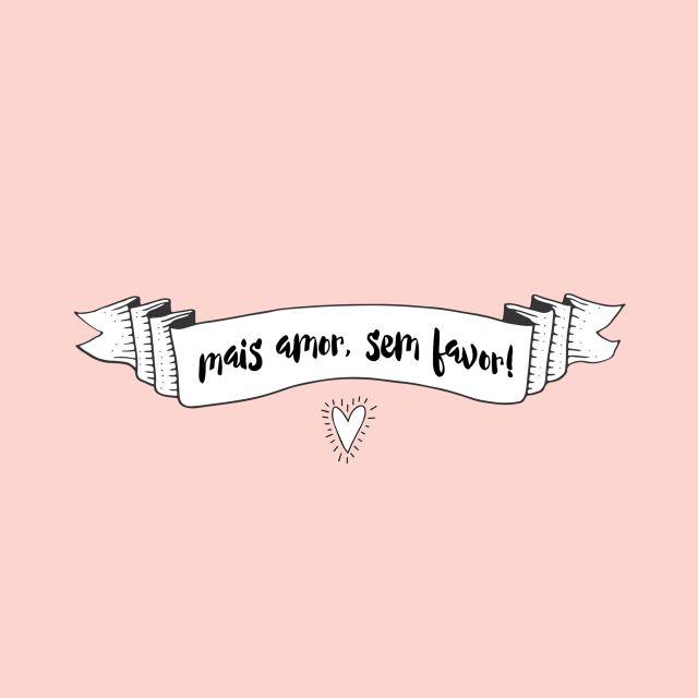 Poster Mais Amor Sem Favor   salmão