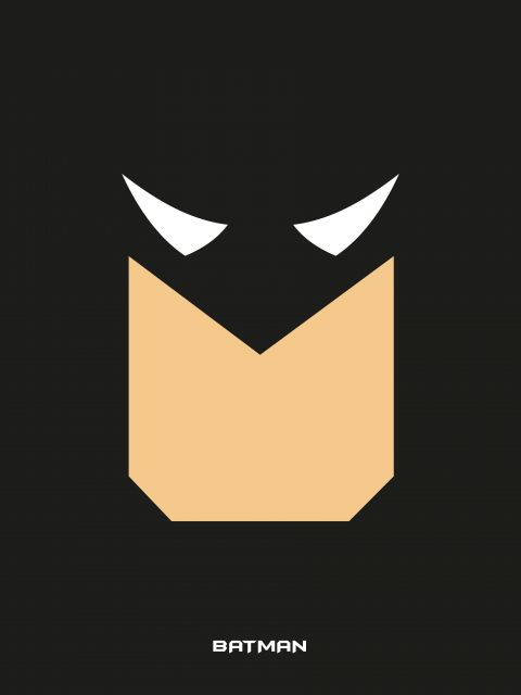 Poster Batman   preto