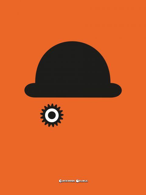 Poster Laranja Mecânica   laranja Clockwork Orange