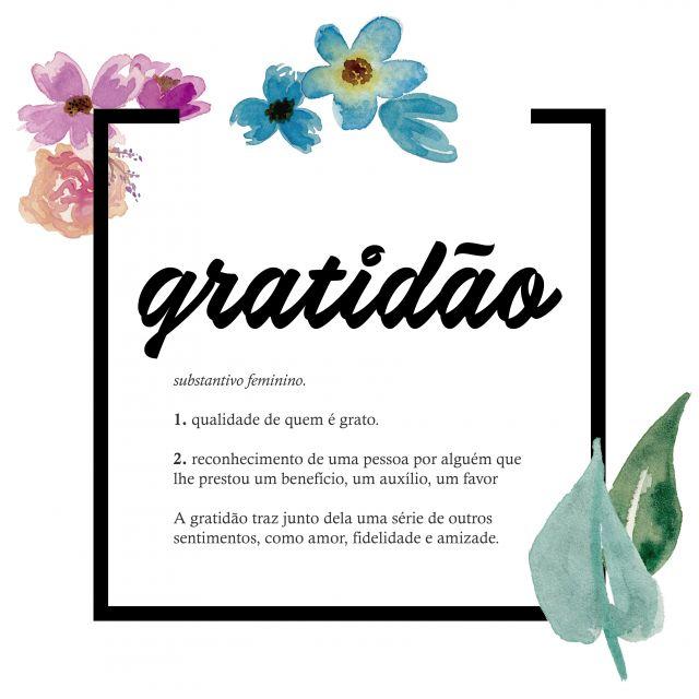 Poster Gratidão Gratitude