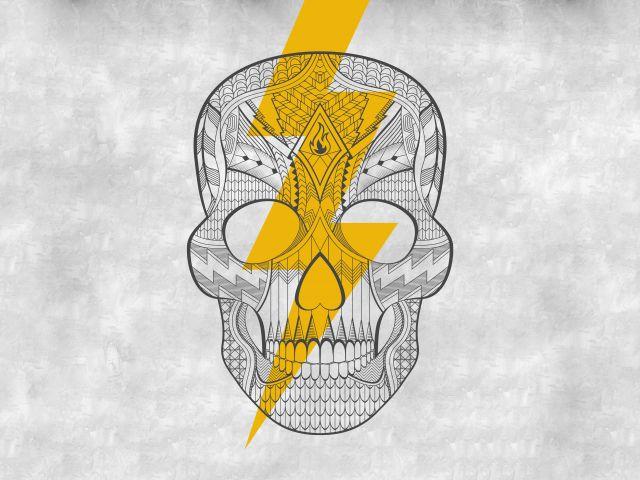 Poster Caveira e Raio   skull raio
