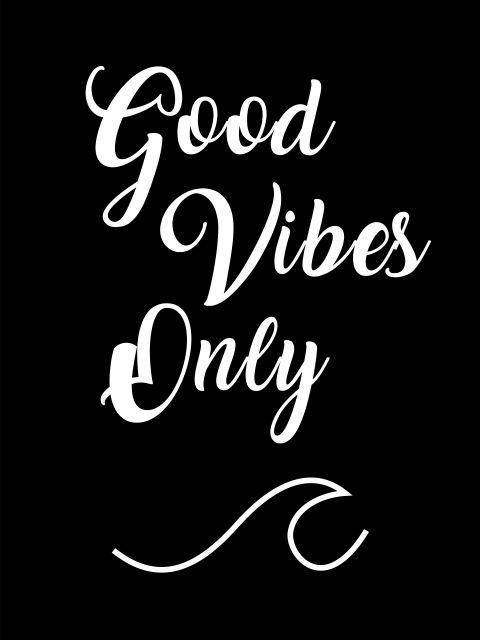 Poster Good Vibes   boas vibrações