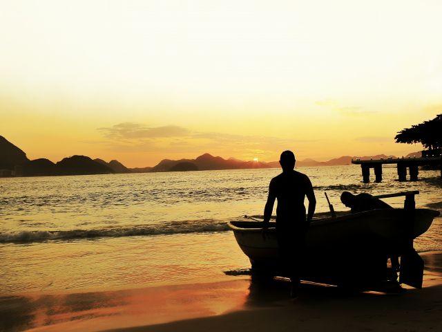 Poster Rio - Pescadores Copacabana   paisagem