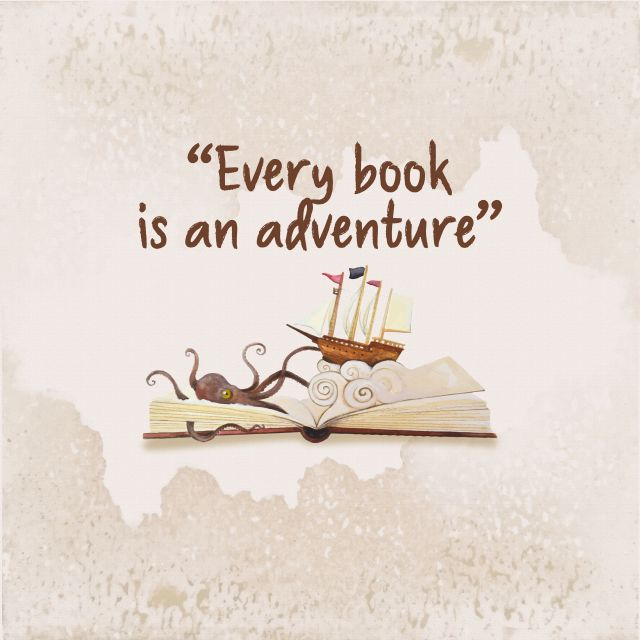 Poster Every book is an aventure