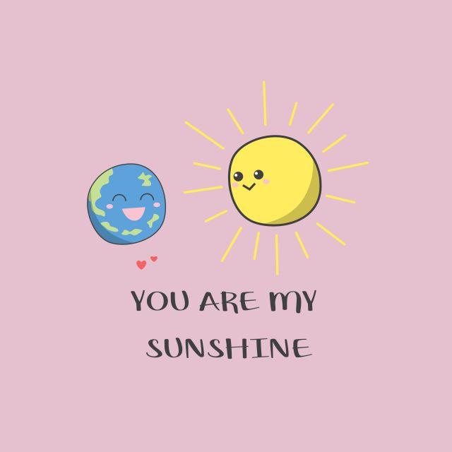 Poster You are my sunshine  sol lua