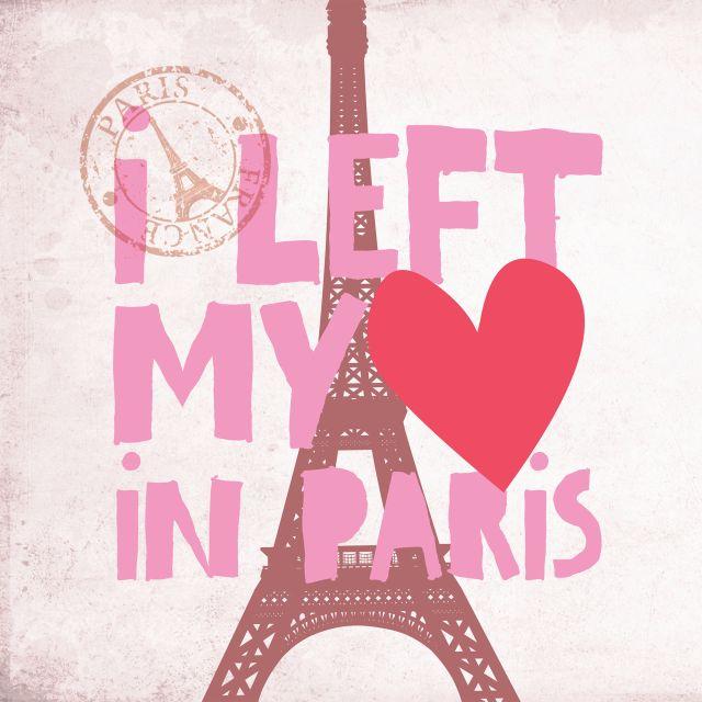 Poster I Left my heart in Paris   paris