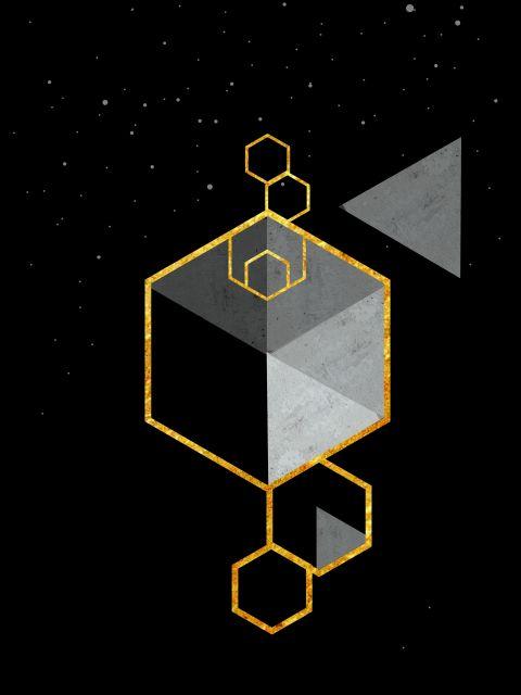 Poster Geometric Space Scandinavian