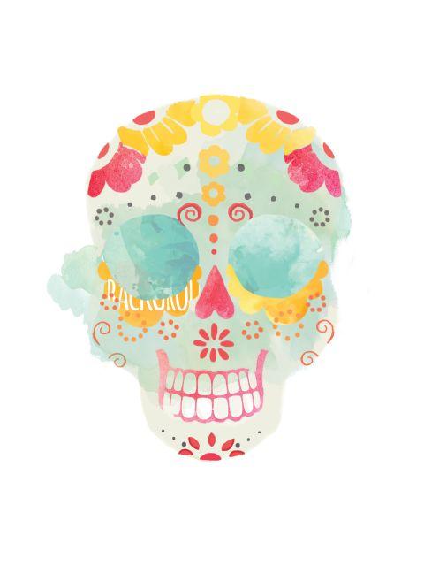 Poster Santa Muerte Calavera 1   caveira skull