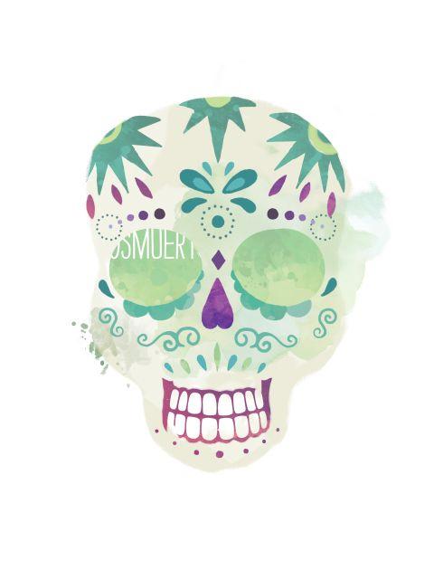 Poster Santa Muerte Calavera 2   caveira skull