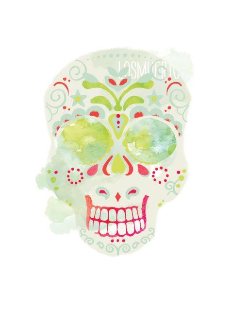 Poster Santa Muerte Calavera 3   caveira skull