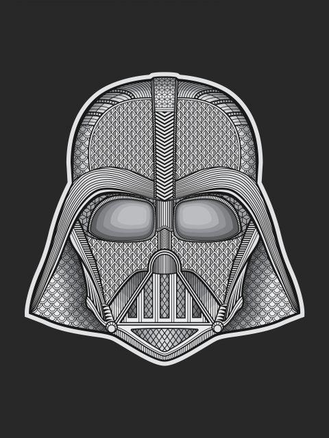Poster Darth Vader-Custom   star wars preto
