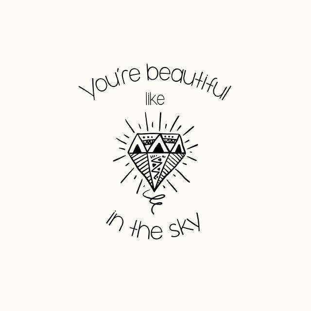 Poster Like diamonds in the sky   diamante
