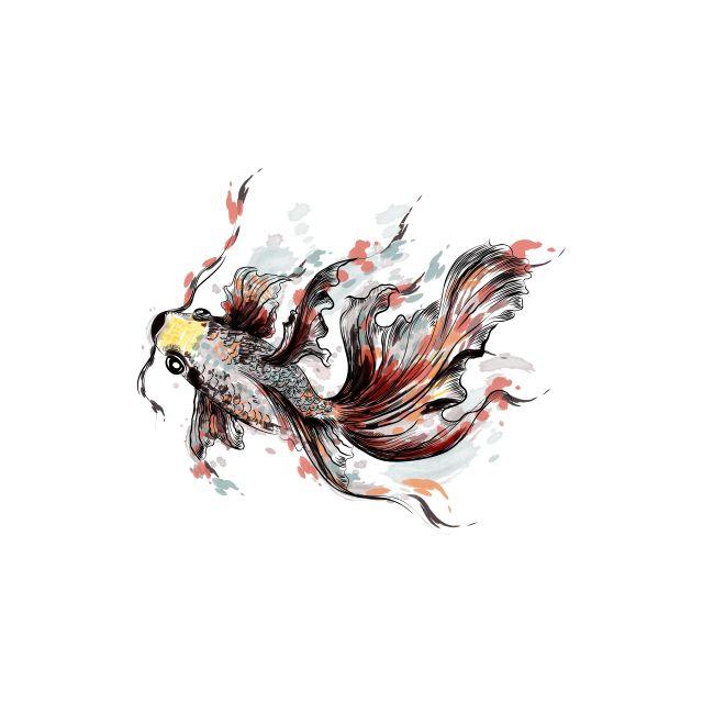 Poster Watercolor Fish   peixe