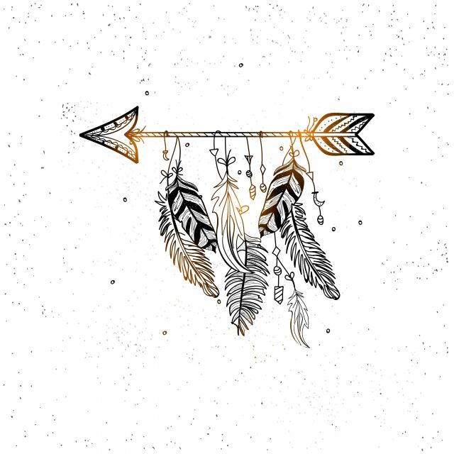 Poster Arrows and feathers   flecha flechas penas pena