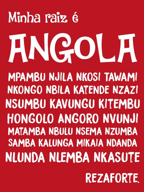 Poster Minha Raiz é Angola   vermelho