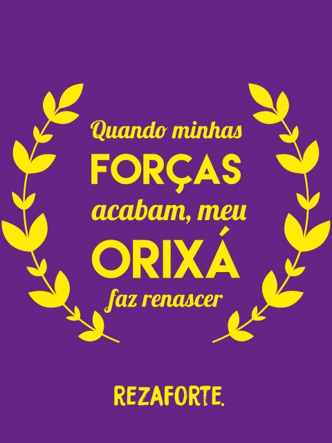 Poster Força do Orixá   roxo