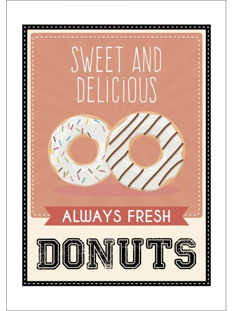Poster Donuts   donuts