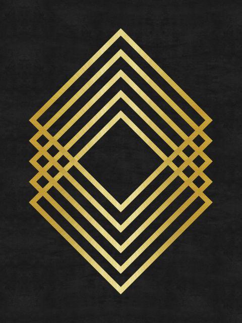 Poster Minimalista e dourado   dourado preto