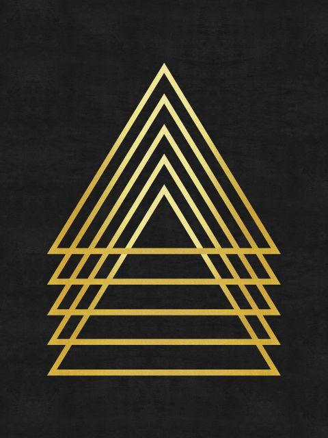 Poster Minimalista e dourado II   dourado preto