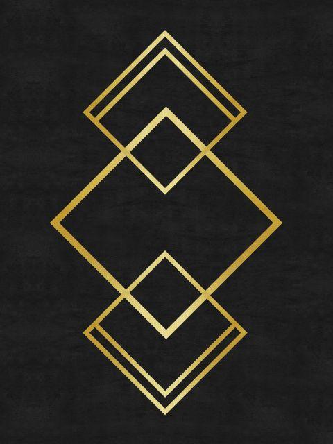 Poster Minimalista e dourado VIII  preto dourado