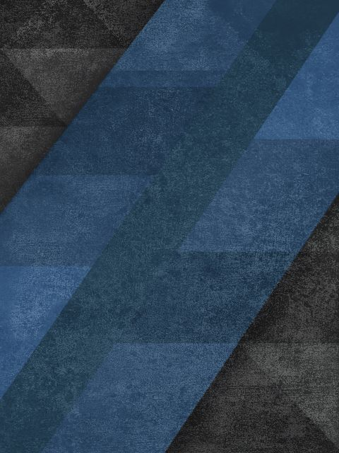 Poster Geometric - Blue