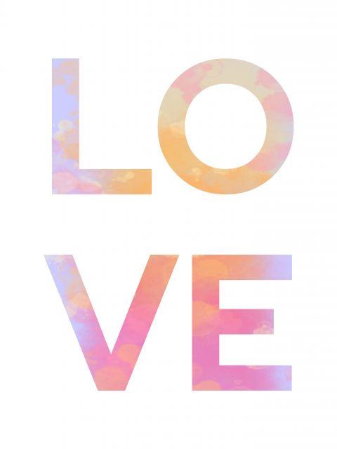 Poster Love   amor