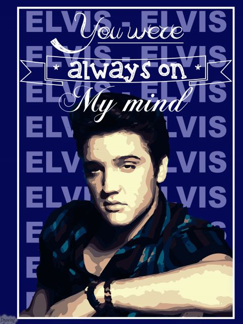 Poster Elvis Presley- Always On My Mind