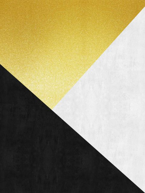 Poster Faixas coloridas e douradas II