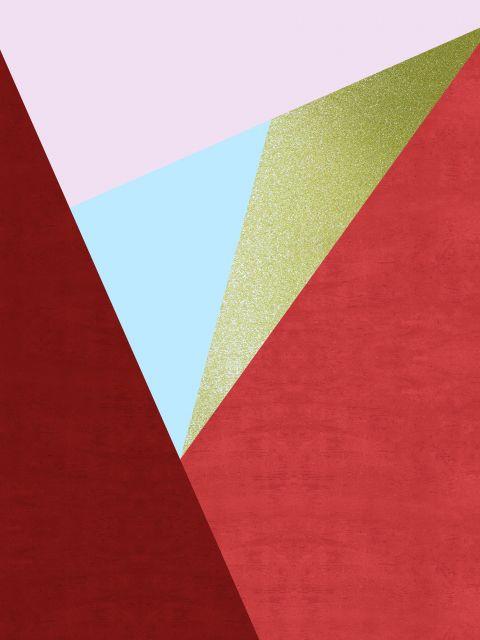 Poster Faixas coloridas e douradas III