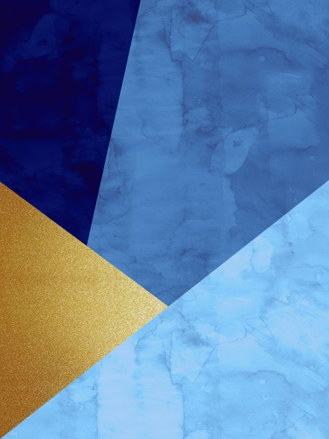 Poster Faixas coloridas e douradas VIII