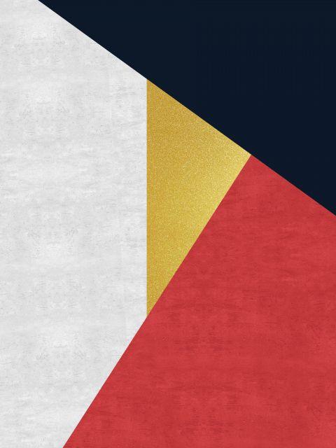 Poster Faixas coloridas e douradas IX