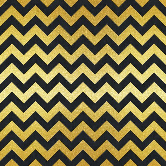 Poster Padrão dourado I   preto dourado chevron