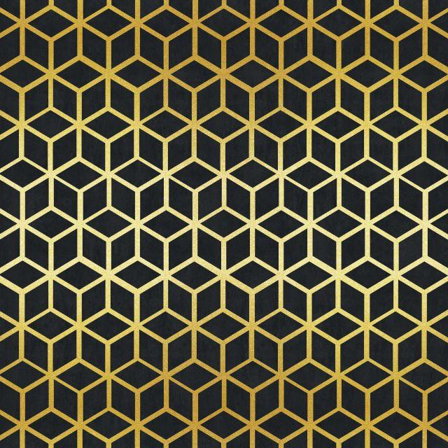 Poster Padrão dourado III   preto dourado