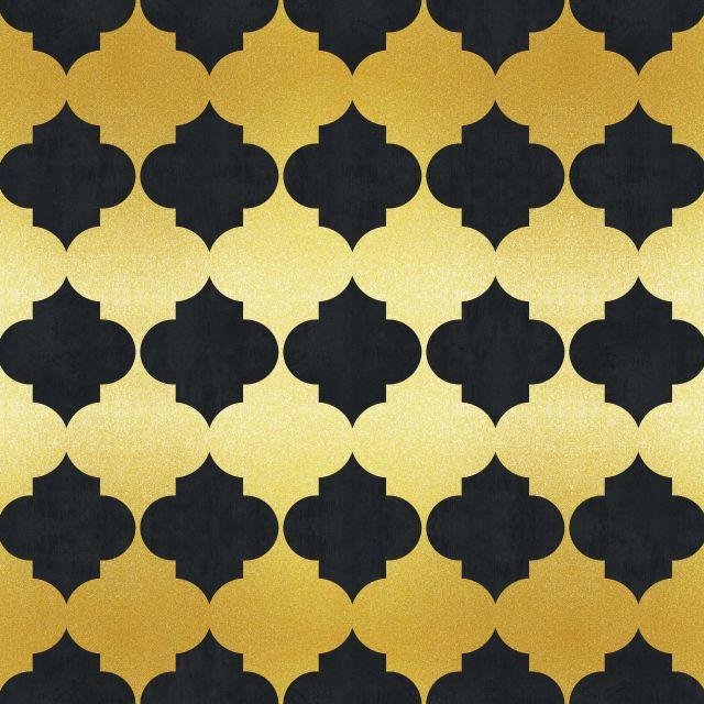 Poster Padrão dourado IV   dourado preto