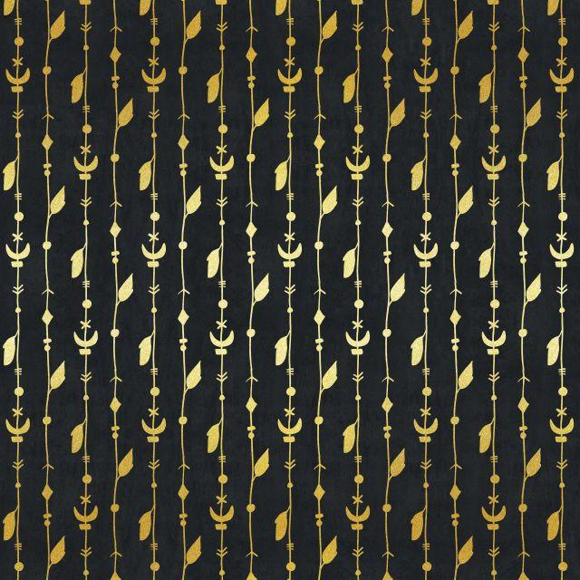 Poster Padrão dourado VI   preto dourado