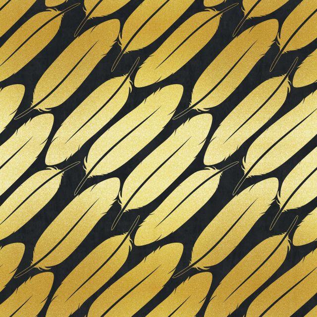 Poster Padrão dourado VIII   preto dourado