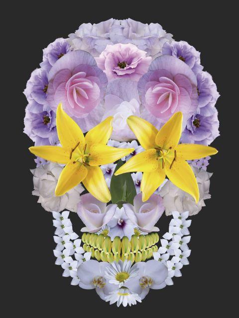 Poster Caveira floral