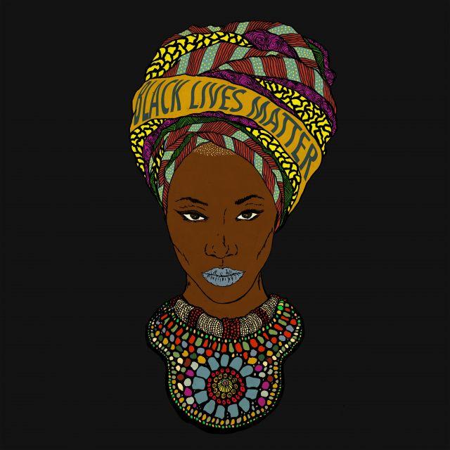 Poster Black Lives Matter   mulher