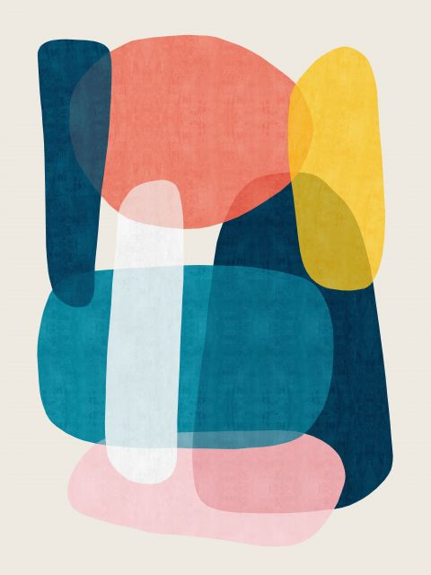 Poster Composição abstrata IX
