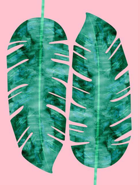 Poster Aquarela Folhas Tropicais VIII