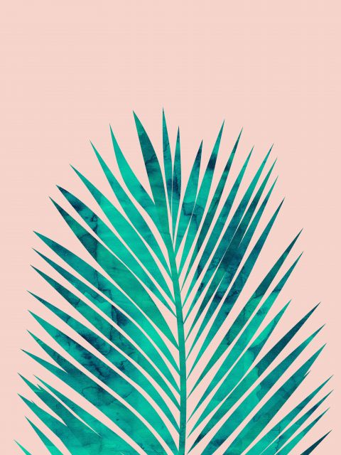 Poster Aquarela Folha Tropical III