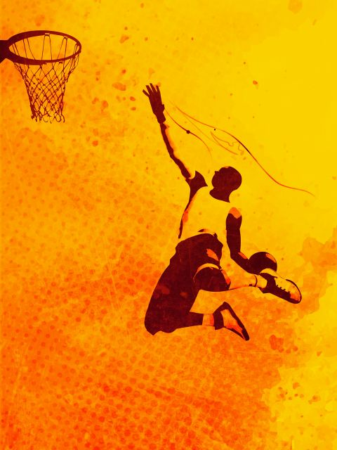 Poster Heat of Basketball