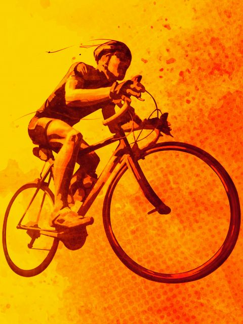 Poster Heat of Cycling   bicicleta