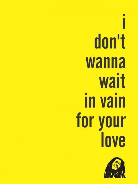 Poster Love Bob Marley